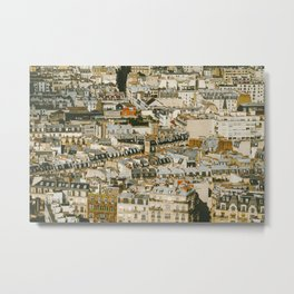 A Mosaic of Apartments in Paris, France. Metal Print