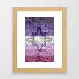 Light Aspect Lesbian Floral Framed Art Print
