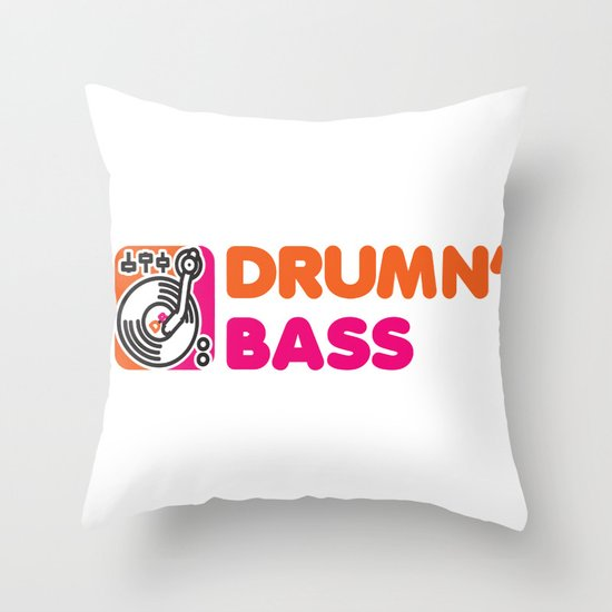 Drumn' Bass  Throw Pillow