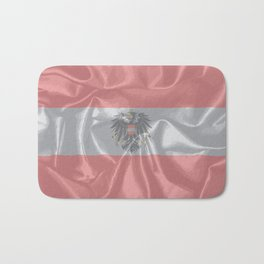 Silk Austrian Flag and Coat of Arms Bath Mat