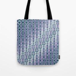 """Cos(a × (n × j^2 + k × i^2)) × 0.7 [""""70s Pattern""""] - [PIXEL ZOOM] Tote Bag"""