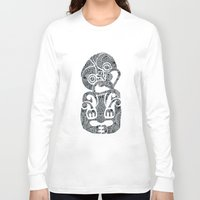 tiki Long Sleeve T-shirts featuring Tiki  by AndreaGeddes