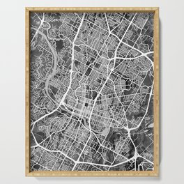 Austin Texas City Map Serving Tray