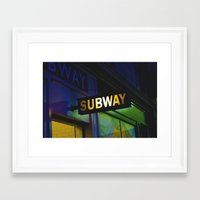 subway Framed Art Prints featuring Subway by Mark Spence
