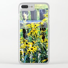 Fence and daisys Clear iPhone Case