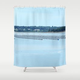 Growing Food with Tides Shower Curtain