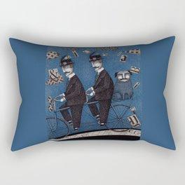 Two Men Travelling Rectangular Pillow