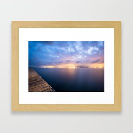 Watching the City lights II Framed Art Print