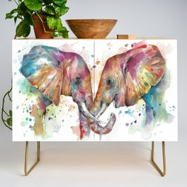 Sunset Elephants Credenza