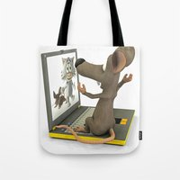 nightmare Tote Bags featuring nightmare by Ancello