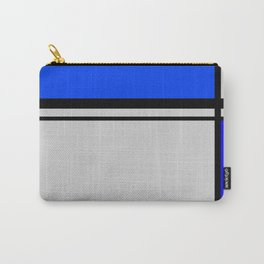 Cross Lines in blues Carry-All Pouch