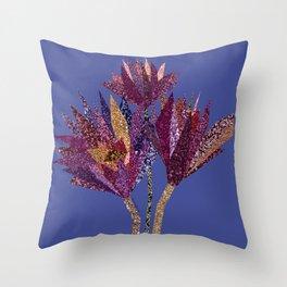 Purple flower bunch (blueviolet) Throw Pillow