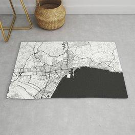 Malaga Map Gray Rug