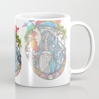 celtic Mugs featuring Celtic elf by Raquel C. Hita - Sednae