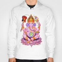 ganesh Hoodies featuring Ganesh by Jared Bretholtz