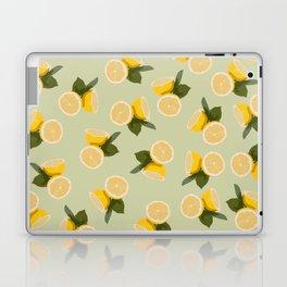 Yellow Citrus Lemon Fruit on Pale Lime Green Laptop & iPad Skin