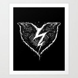 ravens heart Art Print