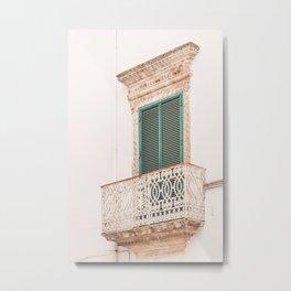 412. Green Shutters, Martina Franca, Puglia, Italy Metal Print