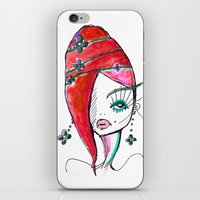 redhead iPhone & iPod Skins featuring Redhead by Hannah Grunden