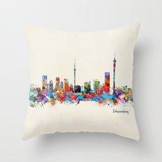 Johannesburg South Africa skyline Throw Pillow