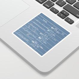 Library Card 23322 Negative Blue Sticker