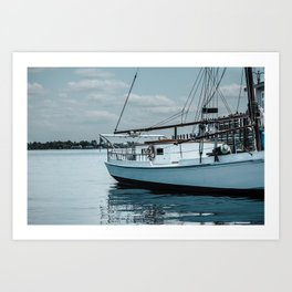 Sails on the Water Art Print
