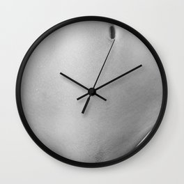 Bodyscape. Naked woman Wall Clock