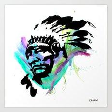 Indian Paintbrush Art Print