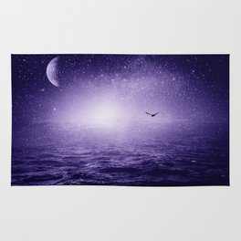 the Sea and the Universe ultra violet version Rug