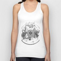 zentangle Tank Tops featuring Zentangle by Alex Vladoiu