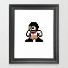 8-bit Andres Pose 1 Framed Art Print