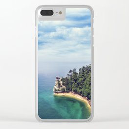 Miners Castle rock formation Clear iPhone Case