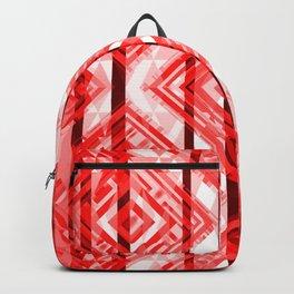 Red Tribal Geometric Backpack