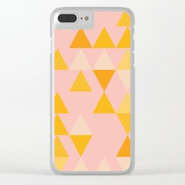 Triangles in Soft Pastels Clear iPhone Case