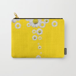 WHITE DAISIES WINDFALL YELLOW ART Carry-All Pouch