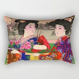 Two Geishas Rectangular Pillow