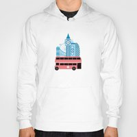 england Hoodies featuring London, England by Milli-Jane