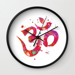 Colorful Om Symbol Wall Clock
