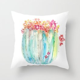 Cactus of Many Colors Throw Pillow