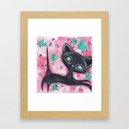 Joyce Cat Framed Art Print