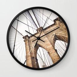 Brooklyn Bridge I Wall Clock