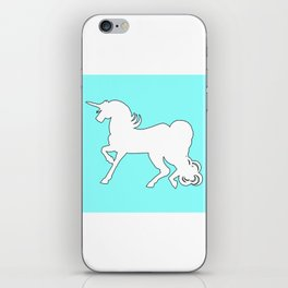 White Unicorn Silhouette iPhone Skin