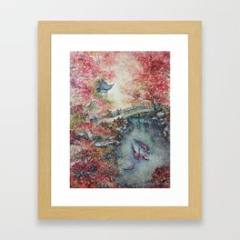 Autumn Morning (Watercolor painting) Framed Art Print