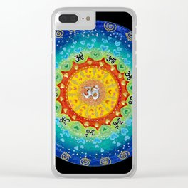 Cosmic Mandala Clear iPhone Case
