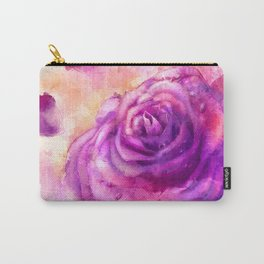 Watercolor rose painting Carry-All Pouch