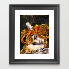 Deep Reading Framed Art Print
