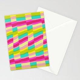 MULTI COLOURED STRIPE Stationery Cards