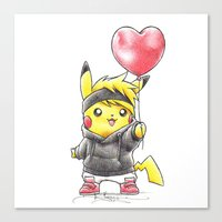 projectrocket Canvas Prints featuring iHeart Birdychu by Randy C