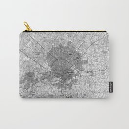 Raleigh North Carolina Map (1990) BW Carry-All Pouch