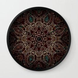 Earth Tones Mandala Wall Clock